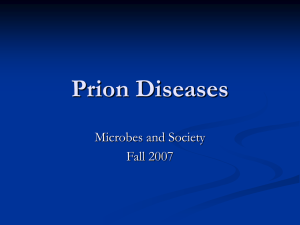 Prion Diseases - Winona State University