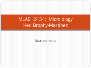 MLAB 2434: Clinical Microiology Keri Brophy-Martinez