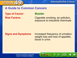 A Guide to Common Cancers