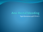 Rectal bleeding - FK UWKS 2012 C