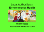 Local Authorities – Environmental Health