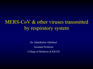 5-MERS-COV and other viruses transmitted through respiratory