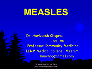 (a) Measles vaccine.