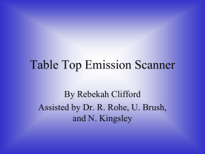 Table Top Emission Scanner By Rebekah Clifford and N. Kingsley