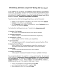 Microbiology 20 Disease Assignment – Spring 2016  (due May 17 )