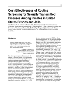 Cost-Effectiveness of Routine Screening for Sexually Transmitted Diseases Among Inmates in United