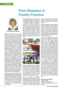 Viral diseases in Family Practice  CPD Editorial