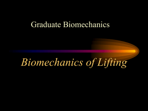 Biomechanics of Lifting