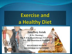 Sports - Geoffrey Axiak's Nutrition Pages