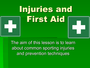 Injuries and First Aid - crestwoodpe