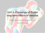 Unit 2: Physiology of fitnesslong term effects of exercise