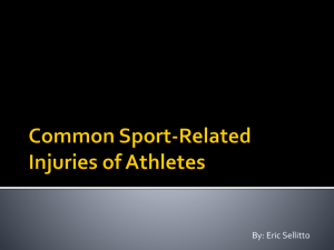 Common Sport-Related Injuries