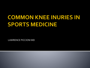 COMMON KNEE INURIES IN SPORTS