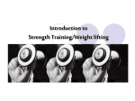 Introduction to Weight-lifting (Strength Training)