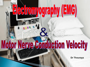 Lecture 1- Electromyography