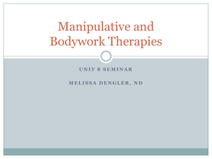 Manipulative and Bodywork Therapies