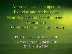 Approaches to Therapeutic Exercise and Activity for Neurological