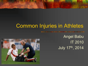 Common Injuries in Athletes