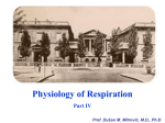 Physiology of Respiration Part IV Prof. Dušan M. Mitrović, MD, Ph.D
