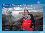 Abrupt Tropical Climate Change: Past and Present