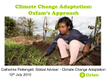 Climate Change Adaptation: Oxfam`s Approach