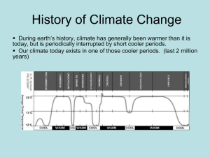 History of Climate Change