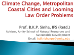 Climate Change, Metropolitan Coastal Cities and Looming