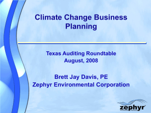 EMS Workshop for SGI - Zephyr Environmental Corporation