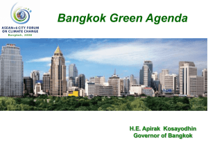 Urban Planning: How to live under climate change in Bangkok