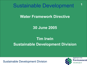 Sustainable Development - Department of the Environment