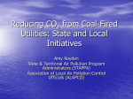 Reducing CO2 from Coal-Fired Utilities: State and Local