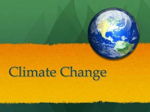 Climate Change - Sauer Science