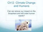 Ch12 Climate Change and Humans