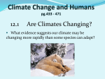 Climate Change and Humans pg.433