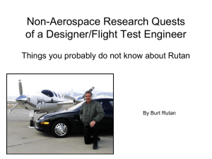 Non-Aerospace Research Quests of a Designer/Flight Test