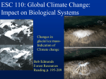 PowerPoint Presentation - ESC 110: Global Climate Change