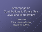 Anthropogenic Contributions to Future Sea Level and