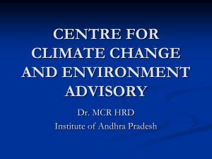 CENTRE FOR CLIMATE CHANGE AND ENVIRONMENT ADVISORY