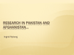 Research in Pakistan and afghanistan…