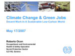 Green Jobs Towards Decent Work In A Sustainable, Low