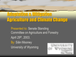 Adaptation & Mitigation Agriculture and Climate Change