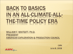 Climate Policy and Natural Gas