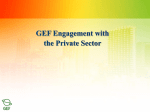 GEF Country Dialogue Workshops Programme Project
