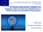 EU Climate Change Policy - Council of European