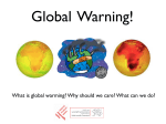 Global warming: why should we care? (30 min discussion)