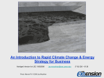 Rapid Climate Change and Energy Strategy for