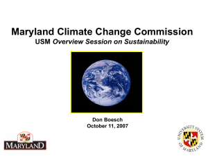 Don Boesch - Climate Change Commission