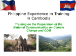 Philippine Experience In Training In Cambodia