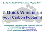 5 Quick Wins to cut your Carbon Footprint Workshop
