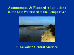 """Autonomous & Planned Adaptation: in the Low Watershed of the"